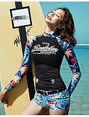 זול 2017ביקיני ובגדי ים-רגלו של הילד פרחוני, דפוס - טנקיני ספורטיבי בגדי ריקוד נשים / מראה ספורטיבי