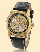 رخيصةأون ساعات رجالية-للرجال ساعات فاشن كوارتز 30 m جلد فرقة مماثل أسود - ذهبي