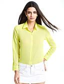 abordables Camisas y Camisetas para Mujer-Mujer Camisa, Escote en Pico Un Color