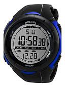 hesapli Spor Saat-Erkek Spor Saat Dijital saat Dijital Silikon Siyah 30 m Gündelik Saatler Havalı Dijital Beyaz Siyah Mavi