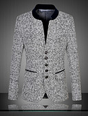 cheap Women's Sweaters-Men's Party Vintage Chinoiserie Plus Size Slim Blazer Oversized Print Stand
