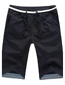 preiswerte Herren-Hosen und Shorts-Herrn Street Schick Baumwolle Schlank Gerade / Kurze Hosen Hose Solide / Wochenende