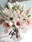 olcso Menyasszonyi fátyol-Művirágok 1 Ág Európai stílus Magnólia növény Asztali virág