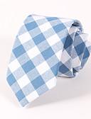 abordables Corbatas y Pajaritas para Hombre-Hombre Algodón Poliéster Corbata - Para el Cuello Houndstooth