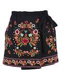 baratos Vestidos de Mulher-Mulheres Temática Asiática Shorts Largo Calças - Bordado