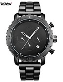 cheap Quartz Watches-SINOBI Men's Sport Watch / Wrist Watch Chinese Calendar / date / day / Water Resistant / Water Proof / Stopwatch Stainless Steel Band Luxury / Vintage / Casual Black / Imitation Diamond / Large Dial