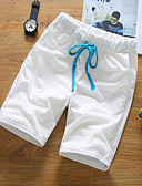 cheap Men's Pants & Shorts-Men's Active Shorts Relaxed Pants - Solid Colored Pure Color High Waist