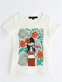 preiswerte Mode für Mädchen-Mädchen T-Shirt Geometrisch Baumwolle Sommer Kurzarm Weiß