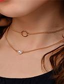 preiswerte Modische Uhren-Damen Obsidian Einzelkette Schmuck-Set - Künstliche Perle damas, Anhänger Stil Einschließen Halsketten Anhängerketten Ketten Gold / Silber Für Party Besondere Anlässe Alltag Normal Draussen