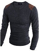 cheap Men's Sweaters & Cardigans-Men's Weekend Long Sleeve Wool Slim Long Pullover - Animal Round Neck