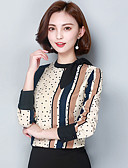 cheap Women's Shirts-Women's Going out / Work Sophisticated Blouse - Color Block Stand