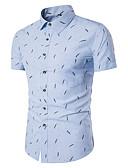 رخيصةأون قمصان رجالي-للرجال قميص هندسي, طباعة ياقة مفرودة ضعيف