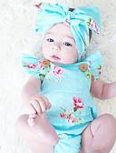 cheap Baby Girls' Clothing Sets-Baby Girls' Floral Fashion / Vintage Print Sleeveless Cotton Bodysuit / Toddler