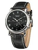 preiswerte Sportuhr-Herrn Automatikaufzug Armbanduhr Chinesisch Schlussverkauf Echtes Leder Band Charme Kleideruhr Modisch Mehrfarbig