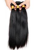 Недорогие Модные часы-3 Связки Бразильские волосы Прямой 10A Не подвергавшиеся окрашиванию Человека ткет Волосы 8-26 дюймовый Ткет человеческих волос Расширения человеческих волос / Прямой силуэт