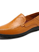 cheap Women's Pants-Men's Moccasin Rubber Spring / Fall Loafers & Slip-Ons Black / Light Brown / Dark Brown / Comfort Loafers