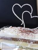 tanie Halki ślubne-Figurki na tort Motyw ogrodowy / Kwiatowe / Roślinne / Motyw kwiatowy Serca Kryształ / Stop Ślub / Impreza / Specjalne okazje z 1 pcs Torba PVC