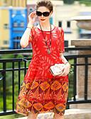 baratos Vestidos Femininos-Mulheres Para Noite balanço Vestido Floral Altura dos Joelhos
