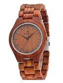 cheap Luxury Watches-Redear Men's Wood Watch Japanese Quartz Wooden Wood Band Analog Luxury Elegant Brown - Brown / Stainless Steel