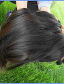 olcso Férfi nyakkendők és csokornyakkendők-Szűz haj Remy emberi haj tincs Afro-amerikai paróka / Fekete hölgyeknek Brazil haj 300 g 1 évnél több