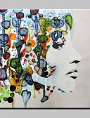 abordables Vestidos de Madrina-Pintura al óleo pintada a colgar Pintada a mano - Personas Abstracto Modern Lona