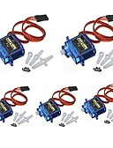 cheap Girls' Tops-5x Pcs SG90 Micro Servo Motor 9G RC Robot Helicopter Airplane Boat Controls