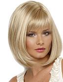 tanie Bikini i odzież kąpielowa 2017-Peruki syntetyczne Prosta Blond Włosie synetyczne Blond Peruka Damskie Długość średnia Bez czepka Blond