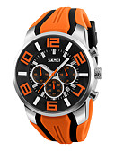 cheap Sport Watches-SKMEI Men's Wrist Watch Quartz Casual Watch Silicone Band Analog Charm Black / Blue / Red - Red Green Blue Two Years Battery Life / Maxell626+2025