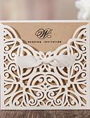billige Gaveæsker-Folde og Pakke Bryllupsinvitationer Invitationskort Klassisk Stil Mønsterpræget Papir