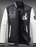 baratos Vestidos de Mulher-Homens Tamanhos Grandes Jaquetas de Couro Esportes Casual - Estampa Colorida Colarinho Chinês