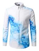 cheap Men's Shirts-Men's Active / Boho Cotton Shirt - Geometric Printing Classic Collar