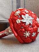 "cheap Flower Girl Dresses-Wedding Flowers Bouquets Wedding Bead Lace Silk Organza Satin 10.63""(Approx.27cm)"