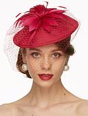baratos Véus de Noiva-Linho Fascinadores / Chapéus / Decoração de Cabelo com Floral 1pç Casamento / Ocasião Especial Capacete