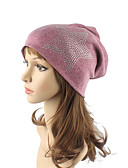 cheap Fashion Hats-Women's Headwear Cute Chic & Modern Knitwear Cotton Beanie / Slouchy Floppy Hat Print Knitting