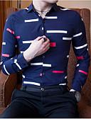 cheap Men's Polos-Men's Cotton Shirt - Geometric Classic Collar / Long Sleeve