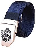 baratos Cintos de Moda-Homens Listras Liga, Cinto para a Cintura Sólido