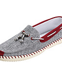 olcso Divatos övek-Férfi Könnyű talp Szövet Tavasz / Ősz Kényelmes Vitorlás cipők Kék / Burgundi vörös
