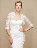 cheap Wedding Wraps-Lace Wedding Party / Evening Women's Wrap With Lace Shrugs