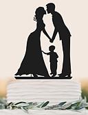 povoljno Vjenčanice-Figure za torte Rođendan Vjenčanje Visoka kvaliteta plastika Vjenčanje Rođendan s 1 PVC vrećica