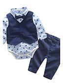billige Tøjsæt til drenge-Baby Drenge Pænt tøj Geometrisk Langærmet Lang Bomuld Tøjsæt