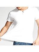 זול תחתוני גברים אקזוטיים-אחיד צווארון עגול פעיל טישרט - בגדי ריקוד גברים כותנה