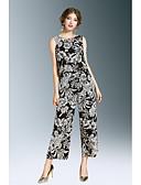 baratos Ternos de Duas Peças Femininos-Mulheres Para Noite Malha Íntima Floral Calça
