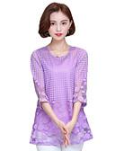 ieftine Bluză-Pentru femei Mărime Plus Size Bluză Ieșire Casual / Sofisticat - Mată Dantelă