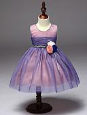 preiswerte Hosen & Leggings für Mädchen-Mädchen Kleid Solide Baumwolle Polyester Sommer Ärmellos Spitze Blau Purpur