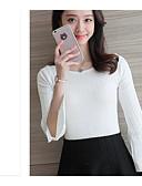 preiswerte Damen Pullover-Damen Langarm Pullover-Solide,Geflochten