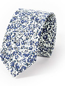 cheap Men's Ties & Bow Ties-Men's Neckwear Cotton Necktie - Floral Print
