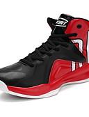 זול טישרטים לגופיות לגברים-בגדי ריקוד גברים דמוי עור סתיו / חורף נוחות נעלי אתלטיקה כדורסל שחור / אדום / שחור אדום