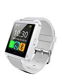 baratos Quartz-u8 smartwatch bluetooth responde e disca as funções do alarme do ladrão do passômetro do telefone