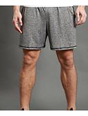 billige Herrebukser og -shorts-WOSAWE Herre Shorts til jogging / Splitt shorts til jogging - Grå sport Shorts Sportsklær Fitness, Løping & Yoga, Fort Tørring, Pustende