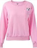 preiswerte Damen Kapuzenpullover & Sweatshirts-Damen Aktiv Pullover - Druck, Solide / Frühling